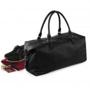 Bellatio Design Leatherlook weekendtas / weekender zwart 30 liter