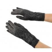 Teplé rukavice na zimu na dotykové displeje mobil tablet šedé