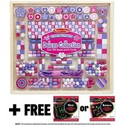Deluxe Collection Wooden Bead Set (340+ beads) + FREE Melissa & Doug Scratch Art Mini-Pad Bundle [94