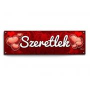 Banner, party felirat, Szeretlek, szerelmes ajándék