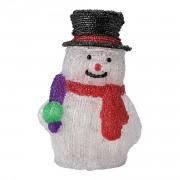 Светещ снежен човек - Коледна декорация с 32 LED крушки
