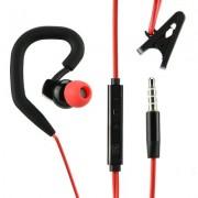 Универсални слушалки (с микрофон) 3.5mm - модел SP80 (черно-червено)