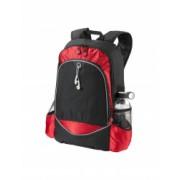 Rucsac Laptop Everestus BN 15 inch 600D poliester negru rosu saculet de calatorie si eticheta bagaj incluse