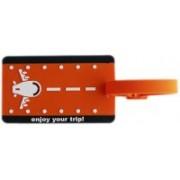 Tootpado Plane Enjoy Your Trip - (1i441) Luggage Tag(Orange)