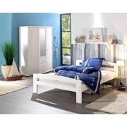 Pat dormitor Serena, lemn brad, 1 persoana ,90×200 cm alb