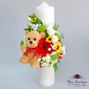 Lumanare botez Teddy Bear LB010