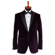 Sacou smoking catifea Slim Fit Gentlemen`s Corner - Purple