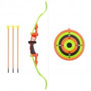 vidaXL Детски комплект за стрелба с лък, 5 части, 68 см