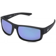 Arnette AN4224 Boxcar anteojos de sol rectangulares para hombre, Matte Black/Polarized Blue Mirror, 59 mm