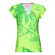 BIDI BADU Bella 2.0 Tech V-Neck T-shirt Dames - neongroen