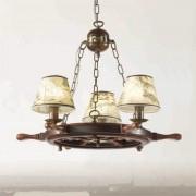 Impressive Porto chandelier three-bulb