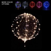 Balloon4U 18 3 Pcs Led Light Up Bobo Balloon, Warm White/ Red/ Pink Colors, Fillable Transparent Balloons With Helium, Great For House Decorations, Wedding And Party Decoration- Lasts 72 Hours
