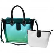 Női táska, fekete / türkiz - TA0100002221