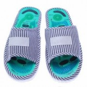 Papuci reflexoterapeutici masaj picioare/talpi albastri potriviti pentru marimile 38-39