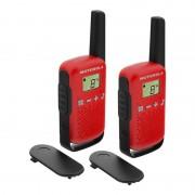 Motorola TLKR T42 Pack 2 Walkie Talkie Vermelhos