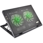 Multilaser Cooler para Notebook Warrior Power Gamer LED Verde Luminoso - AC267 AC267