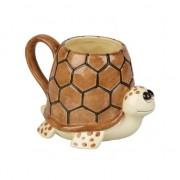 Merkloos Schildpadden koffiemok 10 cm