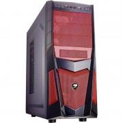 Carcasa Volant 2, MiddleTower, Fara sursa, Negru/Rosu