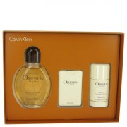 Calvin Klein Obsession EDT Spray 4oz/118.29mL + Min EDT Spray 0.67oz/19.81mL + Deodorant Stick 2.6oz/76.89mL Gift Set 515419