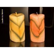 Candles by Milanne 2x ronde kaarsen modern, hoogte: 12cm - kaarsen