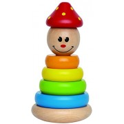 Hape-Wooden Stack and Swivel Clown