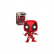 Funko Pop Deadpool With Candy Navideño