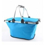 Cos picnic izolat termic cu maner pliabil culoare Albastru