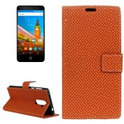 For Wileyfox Swift 2 Knit Texture Horizontal Flip Leather Case with Holder & Card Slots & Wallet & Photo Frame (Brown)