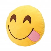 Hungry Smiley Plush Cushion With A Big Tongue