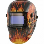 Titan Tekz Auto-Darkening Welding Helmet with Grind Mode - Flaming Skull, Model 41266, Fatigue