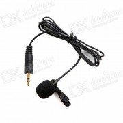 BOYA BY-LM20 Microfono de cuello de clip para GoPro heroe 3+ / 4 - Negro