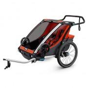 Thule Remolques y carritos Thule Chariot Cross 2 + Kit De Bici Orange