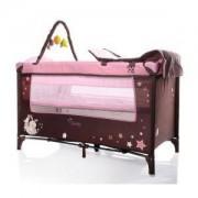 Бебешка кошара на 2 нива Sleepy New, розова, 3563382