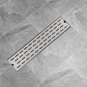 vidaXL Rigolă duș liniară, model linie, oțel inoxidabil, 530 x 140 mm