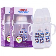 Small Wonder BPA Free Clear Baby Feeding Bottle 125 ml Pack of 2