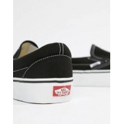 Vans Classic Slip-On Plimsolls In Black VEYEBLK - Black