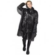 Merkloos 20x stuks wegwerp regenponcho zwart voor volwassenen