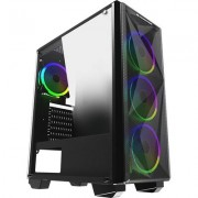 Chassis Beast EN42876, ATX, M-ATX, Mini ITX, USB3.0x1, USB2.0x2, Front Mesh Grill & Left Tempered Glass, CY120 Fansx4 (Fx3 &