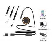 NTR ECAM12 Vízálló endoszkóp kamera 640x480 5,5mm átmérő 6LED USB-C/microUSB/USB 1m