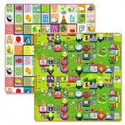 Double Sides Baby Kid Toddler Play Crawl Mat Carpet Playmat Foam Picnic Blanket Rug For Indoors/Outdoors,200 X 180 Cm