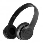 Vezeték nélküli Bluetooth sztereó headset mikrofonnal fejhallgató Mp3, TF/MicroSD Slot, FM Rádió,3,5mm jack - P47