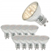 [lux.pro]® Set de 10 bombillas LED Spotlight GU10 450lm 5W luz blanca cálida 3000K SMD foco empotrable bajo consumo