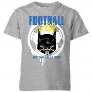 Batman Camiseta Fútbol DC Comics Batman Football Is Life - Niño - Gris - 11-12 años - Gris