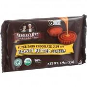Newman's Own Organics Chocolate Cups - Organic Premium Super Dark Chocolate - Peanut Butter Centers
