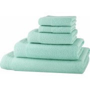 Set baie 5 prosoape Classic Collection Menta 100 bumbac Terry Selection