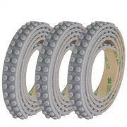 SuSenGo 3 Rolls Grey 9.8Feet/3meter Loops Building Block Tape Roll Self-Adhesive