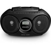 Microsistem audio Philips AZ215B/12, 3 W, CD, AUX, Dynamic Bass Boost, Negru