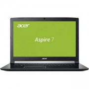 Лаптоп, Acer Aspire 7, A717-72G-76WH, Intel Core i7-8750H (up to 4.10GHz, 9MB), 17.3 инча FullHD (1920x1080) IPS Anti-Glare, HD Cam, NH.GXEEX.010