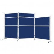 Rolléco Tableau feutrine bleue pour système cloison ECO Hauteur : 1500 mm