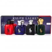 Ralph lauren the world of polo fragrance coffret (black, blue, green, red eau de toilette) 4 x 15 ml